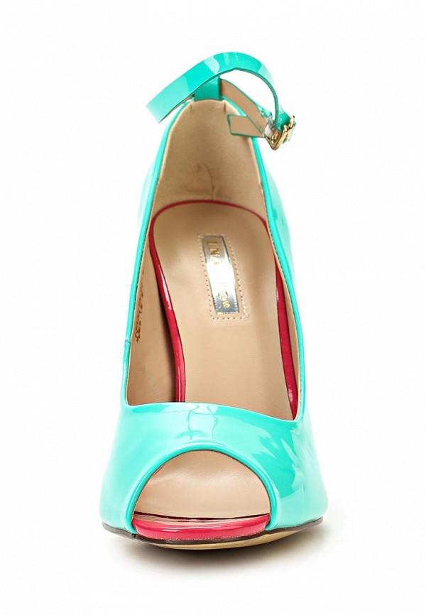 фото Туфли на шпильке Inario IN029AWBEA97, бирюзовые с открытым носом
