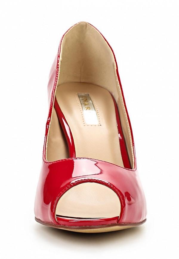 фото Лаковые туфли на каблуке с открытым носом Inario IN029AWBEB07, красные