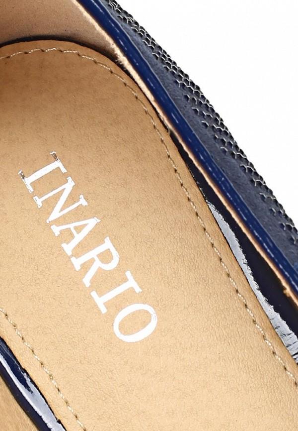 фото Лоферы женские Inario IN029AWBEB11, темно-синие