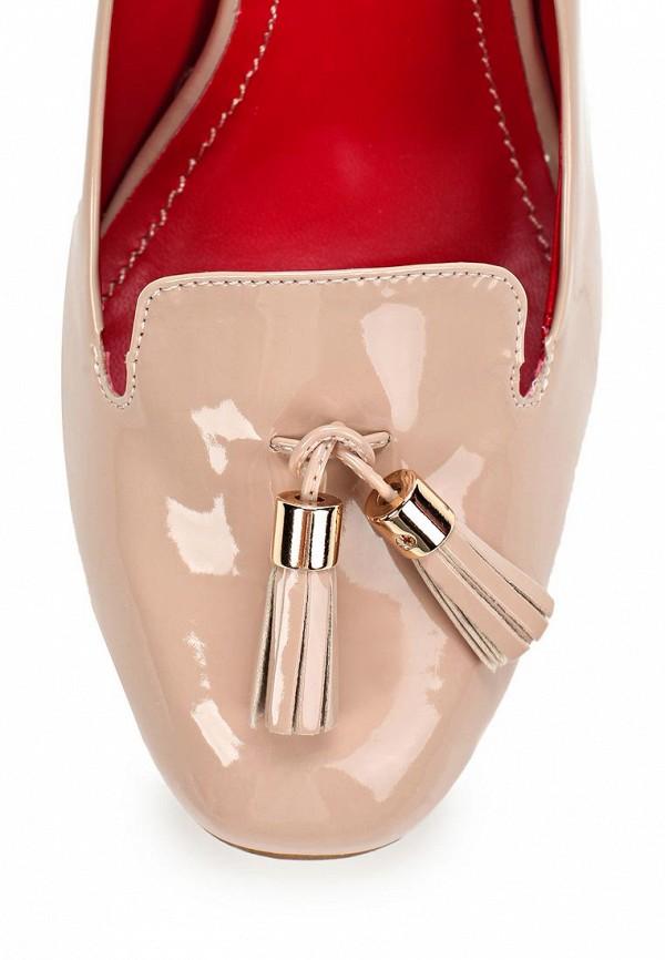 фото Туфли женские на каблуке Inario IN029AWBEB14, бежевые лаковые