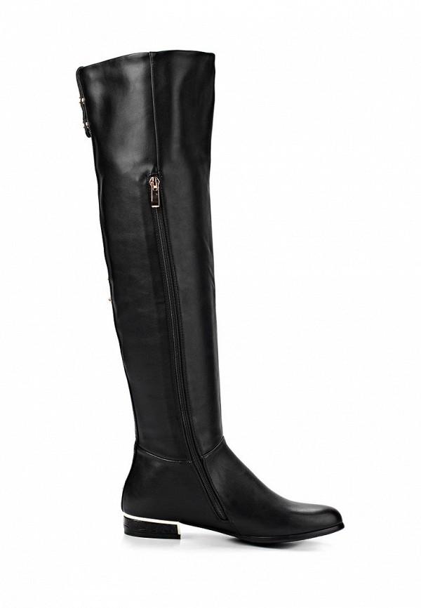 фото Женские сапоги-ботфорты Inario IN029AWCMD79, черные без каблука