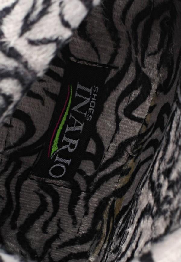 фото Женские ботфорты на платформе Inario IN029AWCMD91, черные/шпилька