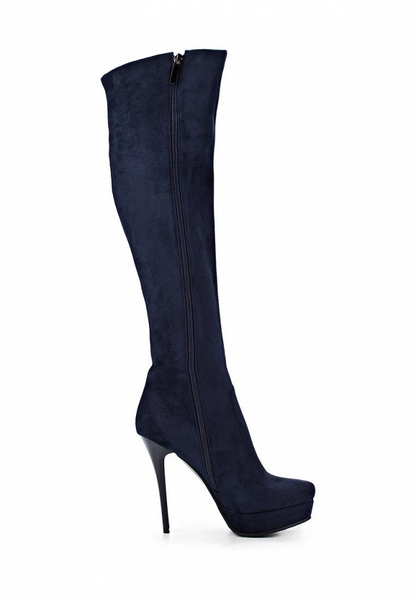 фото Ботфорты на высоком каблуке Inario IN029AWCMD93, темно-синие