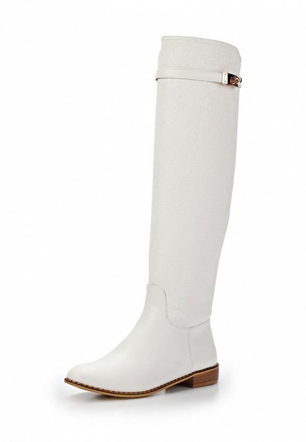 фото Женские сапоги-ботфорты Inario IN029AWCME04, белые демисезонные