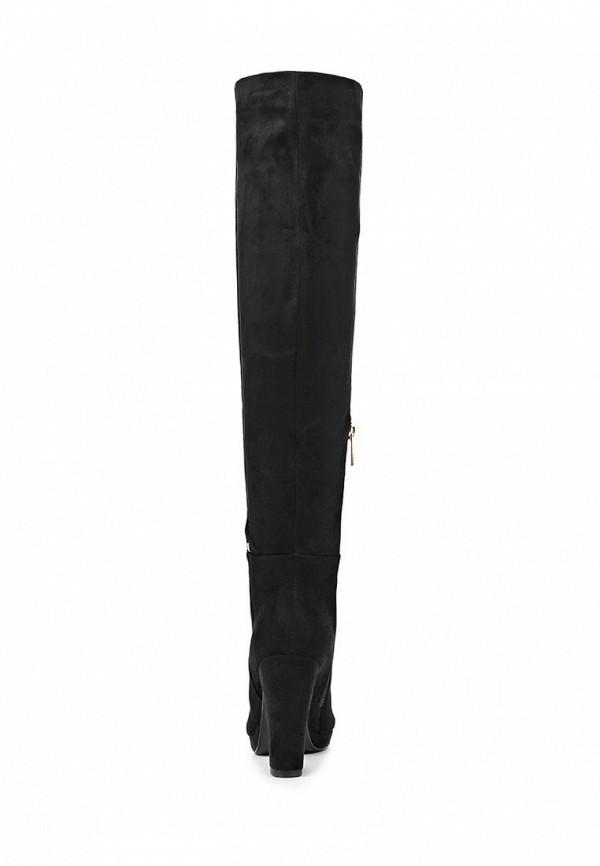 фото Женские ботфорты на каблуке Inario IN029AWCME11, черные замшевые