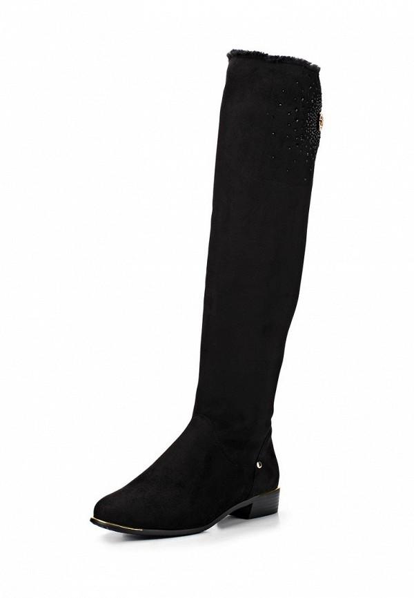 фото Женские ботфорты без каблука Inario IN029AWCME24, черные замшевые