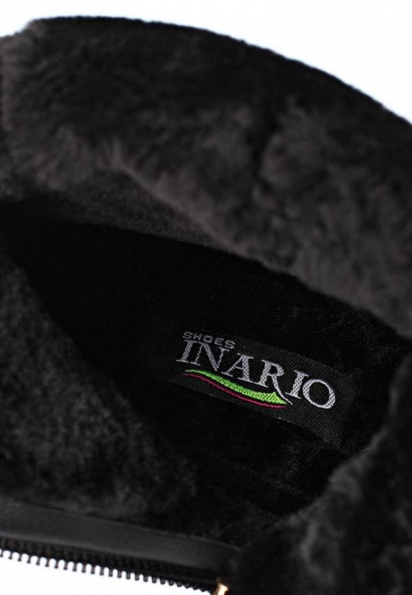 фото Сапоги женские на низком каблуке Inario IN029AWCME30, черные