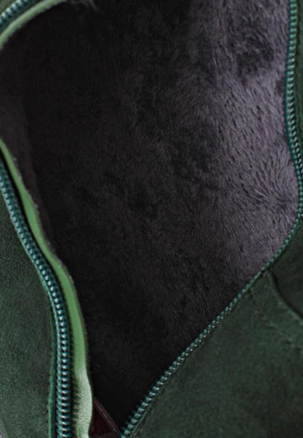 фото Женские ботфорты на каблуке Inario IN029AWCMF52, темно-зеленые/демисезон
