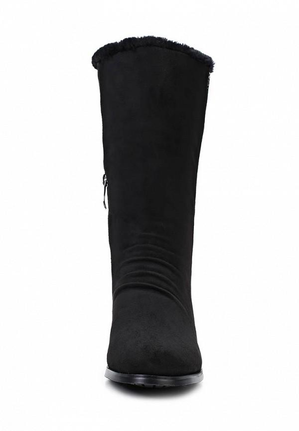 фото Женские полусапоги на низком каблуке Inario IN029AWCMF57, черные