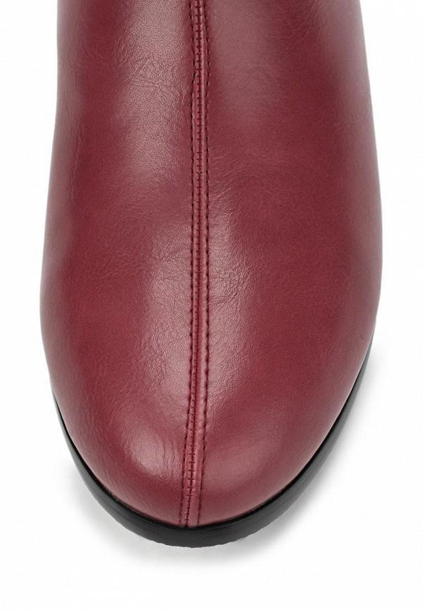фото Женские полусапожки без каблука Inario IN029AWCMF66, красные