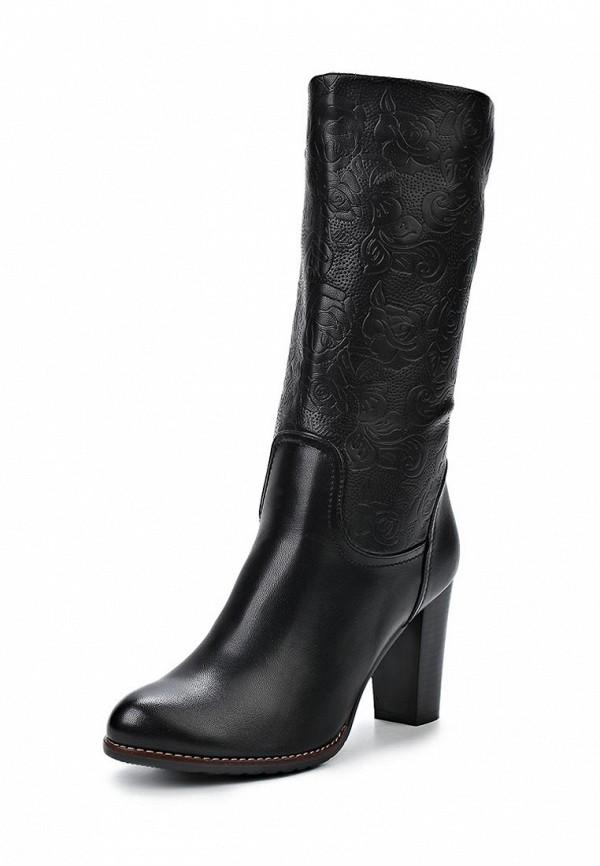 фото Женские полусапоги на высоком каблуке Inario IN029AWCMG02, черные