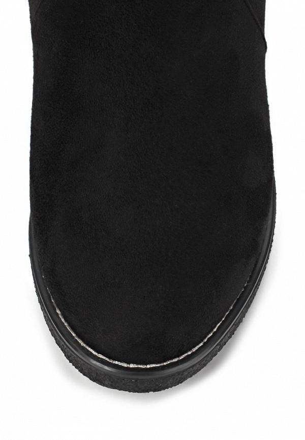 фото Женские полусапоги Inario IN029AWCMG08, черные на плоской подошве