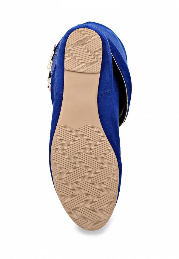 фото Сапоги женские на плоской подошве Inario IN029AWCMG14, синие