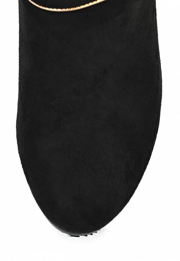 фото Замшевые сапоги-ботфорты на танкетке Inario IN029AWCMG15, черные