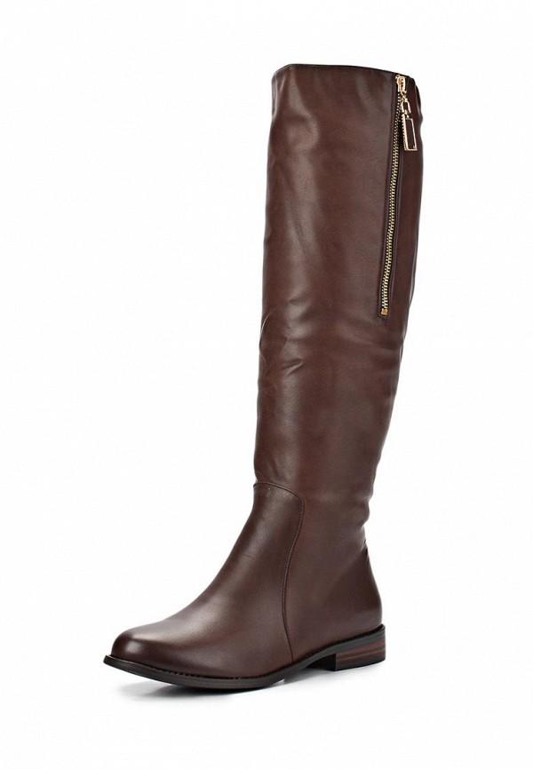 фото Сапоги женские кожаные Inario IN029AWCMG50, коричневые