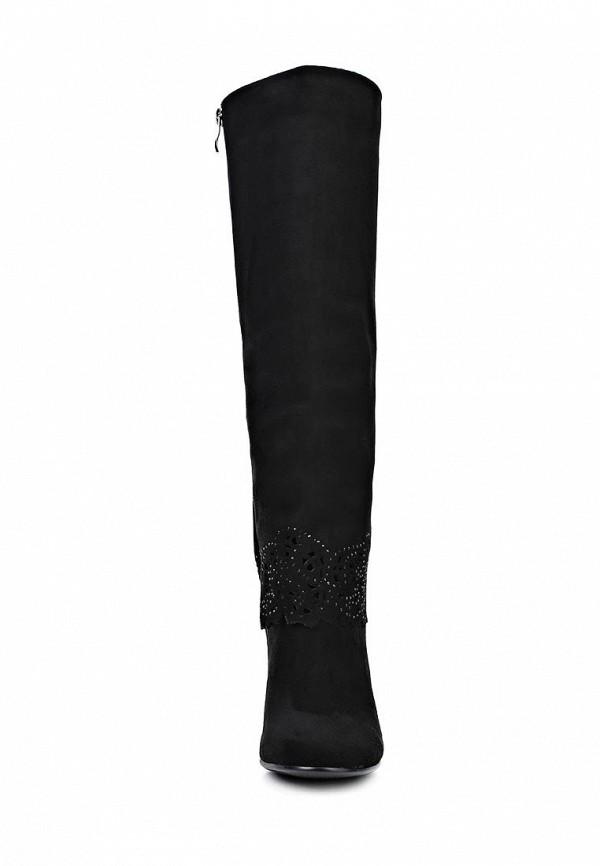 фото Сапоги женские на высоком каблуке Inario IN029AWCMG66, черные