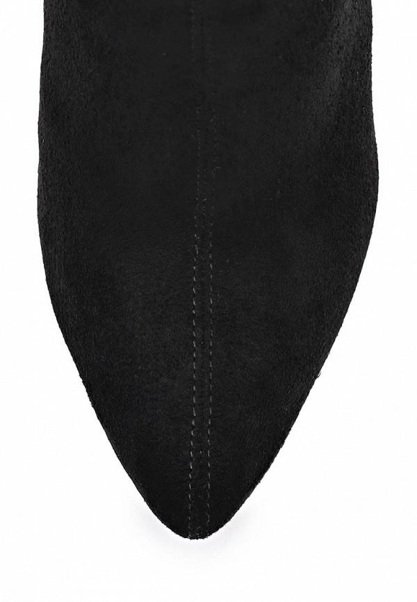 фото Сапоги женские на шпильке Inario IN029AWCMG67, черные замшевые