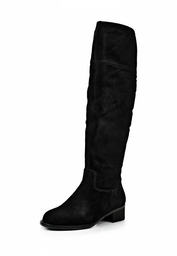 фото Ботфорты женские замшевые Inario IN029AWCMG86, черные на каблуке
