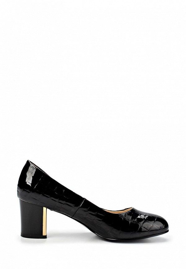 фото Туфли на толстом каблуке Inario IN029AWCMH05, черные (кожа, лак)