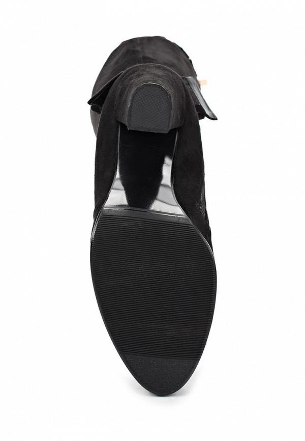 фото Женские ботфорты на толстом каблуке Inario IN029AWCMH23, черные