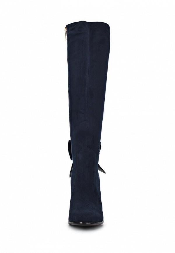 фото Женские ботфорты на высоком каблуке Inario IN029AWCMH24, синие (замша)