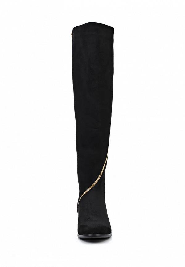 фото Женские сапоги-ботфорты Inario IN029AWCMH28, из черной замши