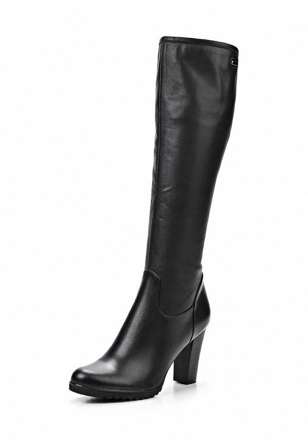 фото Сапоги женские на каблуке Inario IN029AWCMH31, черные кожаные