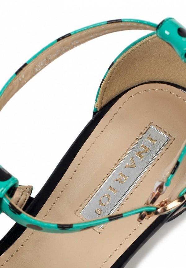 фото Сандали женские Inario IN029AWGW606, зеленые