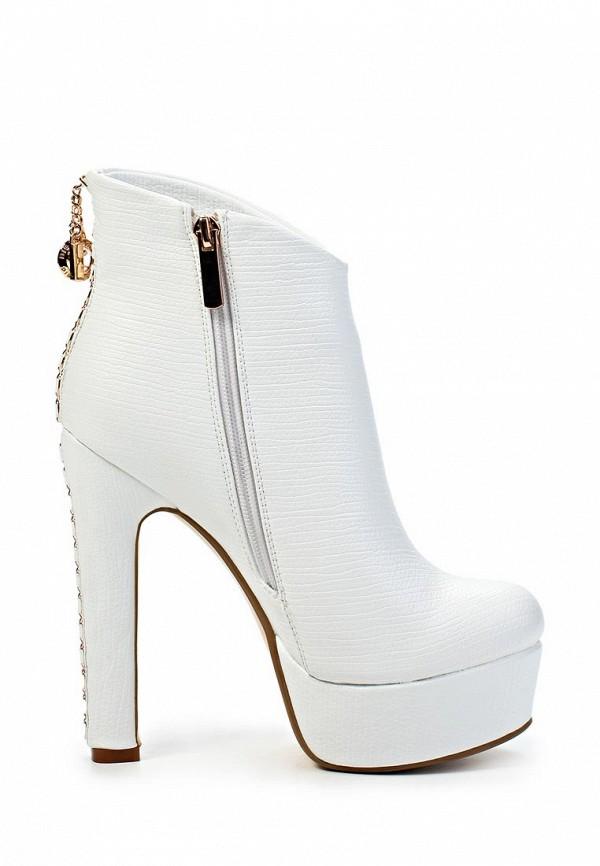 фото Ботильоны на платформе и толстом каблуке Inario IN029AWJR535, белые
