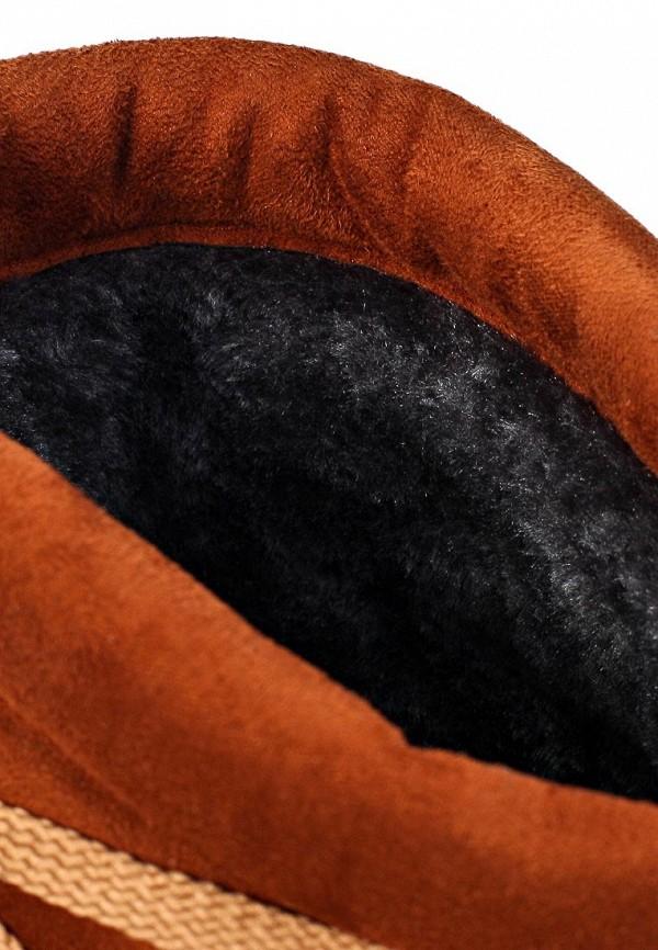 фото Сапоги женские со шнуровкой Inario IN029AWJR608, коричневые (замша)