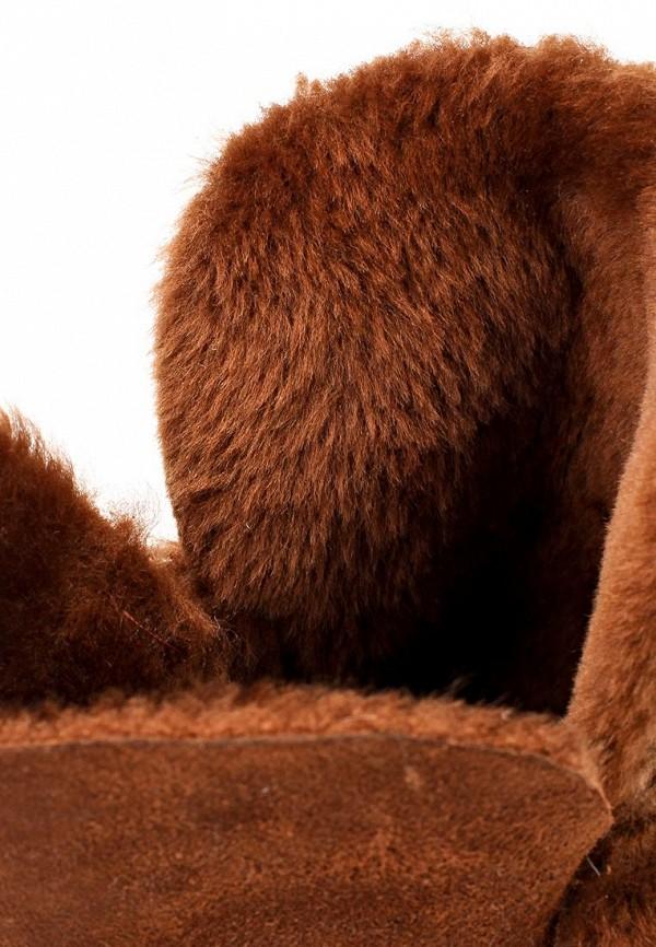 фото Сапоги женские на плоской подошве Inario IN029AWJR770, коричневые