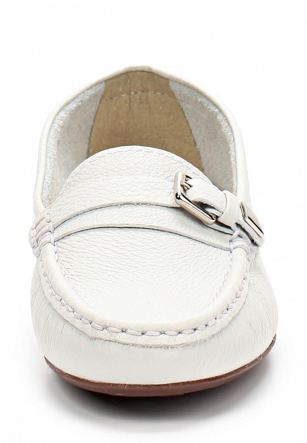 фото Лоферы женские Indiana IN030AWAPI14, белые/каблук