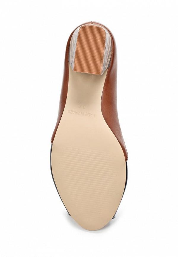 фото Туфли на толстом каблуке Indiana IN030AWAPI42, черно-коричневые (кожа, лак)