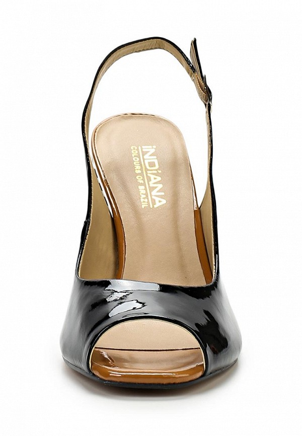 фото Босоножки на толстом каблуке Indiana IN030AWAPI72, черные лаковые (кожа)