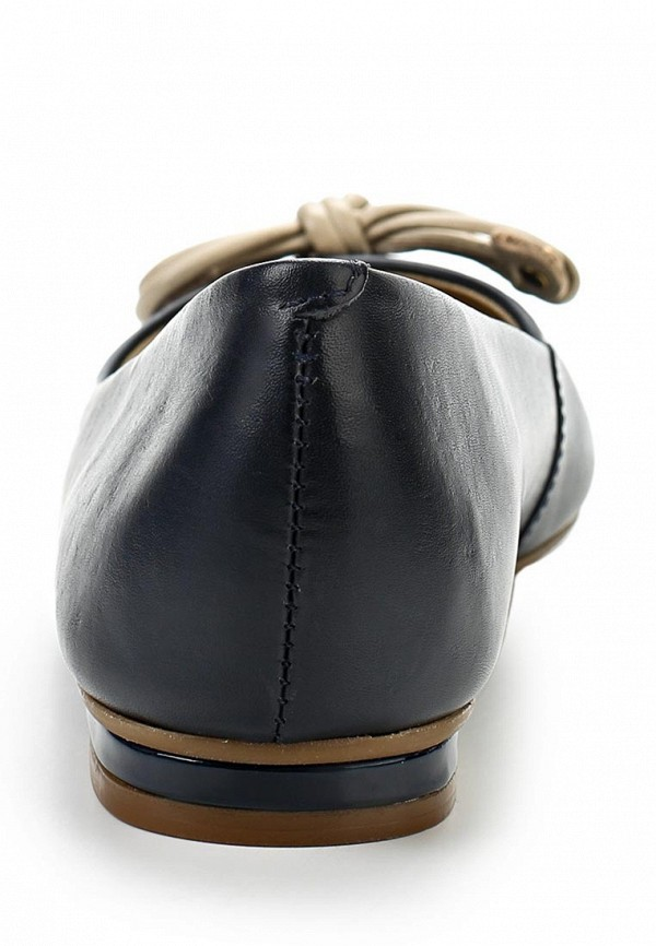 фото Балетки женские Indiana IN030AWAPJ39, черные кожаные