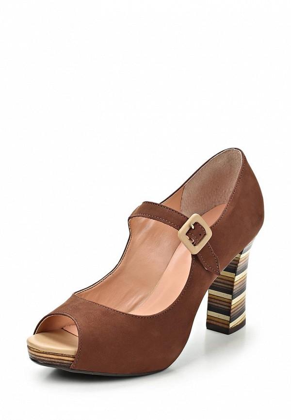 фото Туфли на толстом каблуке Indiana IN030AWCBK40, коричневые с открытым носом