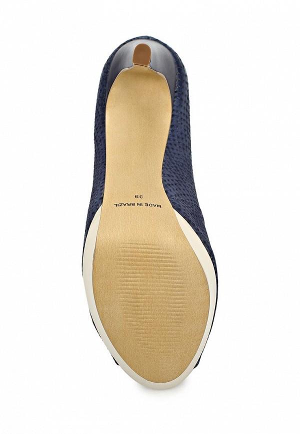 фото Туфли на платформе Indiana IN030AWCBK56, синие/каблук/открытый мыс
