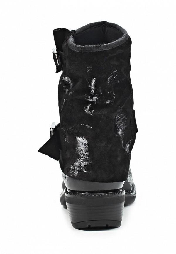 фото Женские полусапожки на каблуке iShu+ IS347AWKM804, черные/мультицвет