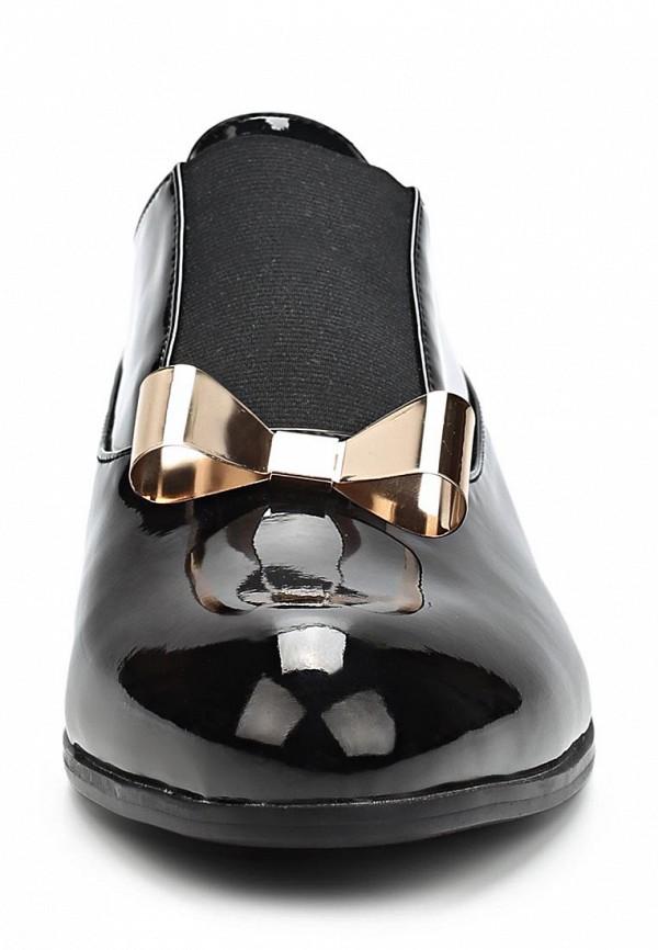 фото Ботинки женские лакированные Item Black IT004AWCJX69, черные кожаные