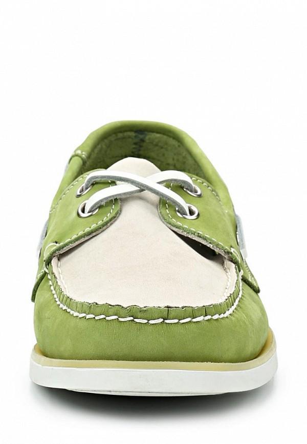 фото Топсайдеры женские Jack Porter Jack JA020AWBTT16, бело-зеленые