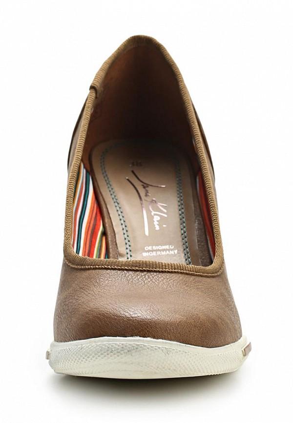 фото Туфли на танкетке Jane Klain JA907AWASB76, коричневые кожаные