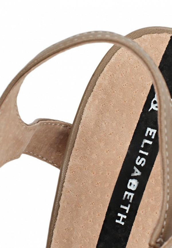 фото Босоножки на каблуке с закрытым носом J&Elisabeth JE031AWAKN59, бежевые