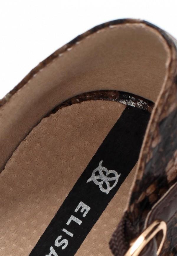 фото Босоножки на шпильке J&Elisabeth JE031AWBOM03, темно-коричневые
