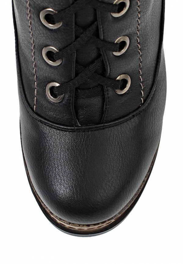 фото Ботильоны на толстом каблуке Betsy JE031AWJK743, черные/шнуровка