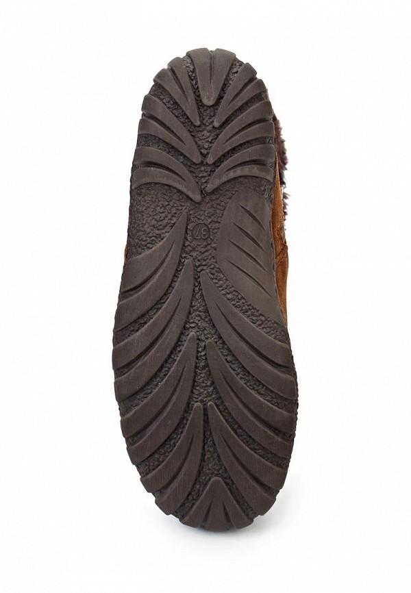 фото Женские полусапожки на плоской подошве J&Elisabeth JE031AWJK770, коричневые