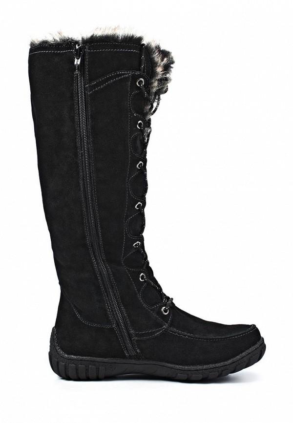 фото Сапоги женские на шнуровке J&Elisabeth JE031AWJK771, черные