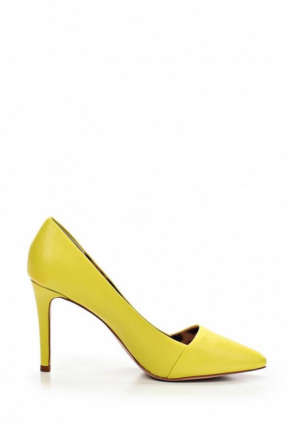 фото Женские туфли на каблуке Just Cavalli JU662AWABT65, желтые кожаные