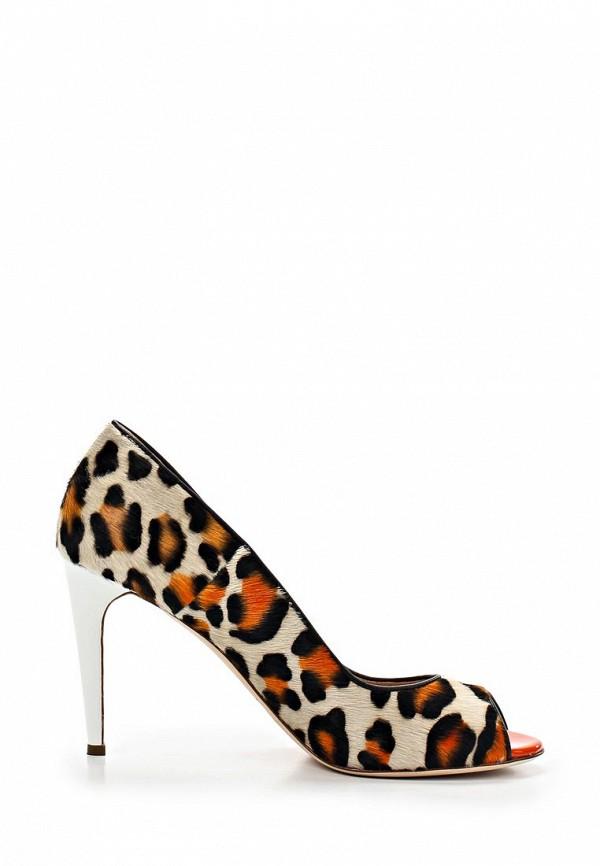 фото Туфли с открытым носом Just Cavalli JU662AWBCI08, леопардовые на каблуке