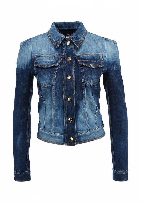 Куртка джинсовая Just Cavalli JU662EWABR66. Цвет: синий