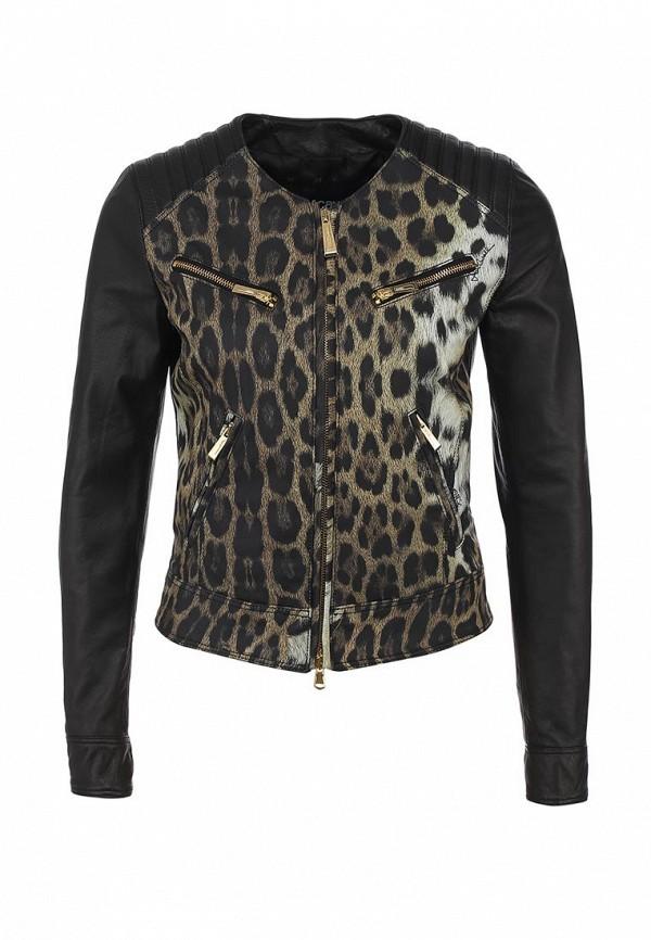 Куртка кожаная Just Cavalli JU662EWABU22. Цвет: черный
